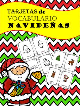 Christmas Vocabulary in Spanish / Tarjetas de Vocabulario para Navidad