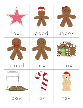 Christmas Vowel Digraph Cards