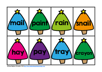 Christmas Vowel Pair Words