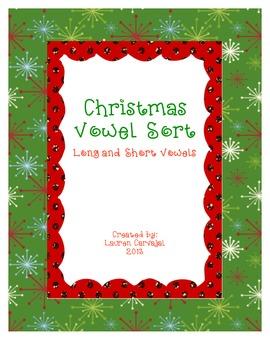 Christmas Vowel Sort