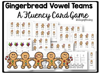 Christmas Vowel Team games for Fluency!  Gingerbread Themed!