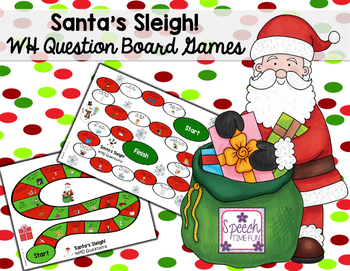 Christmas WH Question Board Games