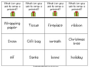 Christmas WH- Question Clip Strips