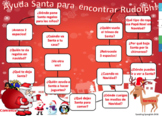 Christmas 'WH' Questions Board Game- SPANISH- BOOM CARDS- NO PRINT/PREP