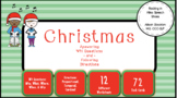 Christmas WH Questions & Following Directions Prepositional, Temporal, Cardinal