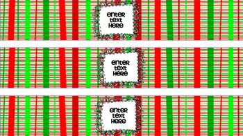 Christmas Water Bottle Labels {EDITABLE}