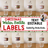 Christmas Water Bottle Labels_2 {Editable}