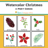 Christmas Watercolor 3-Part Cards