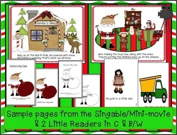 Christmas Song: Way Up at the North Pole! Singable & Activities!
