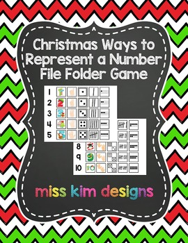Christmas Ways to Represent A Number File Folder Game