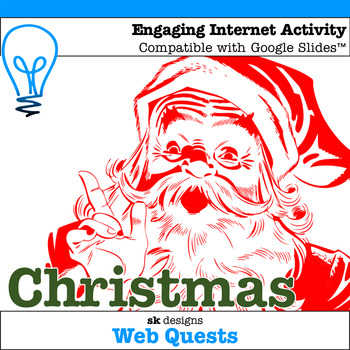 Christmas WebQuest - Engaging Internet Activity {Includes Google Slides}