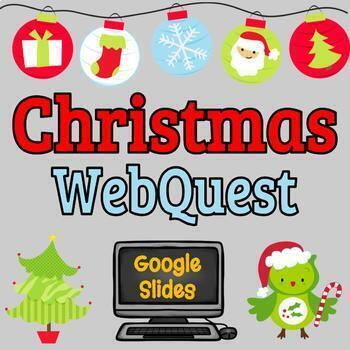 Christmas Webquest, Holiday Webquest - Reading Comprehension, Computer Tech