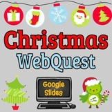 Christmas Webquest - Reading Comprehension, Editable in Go