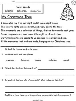 Christmas Week Long Fluency Packet