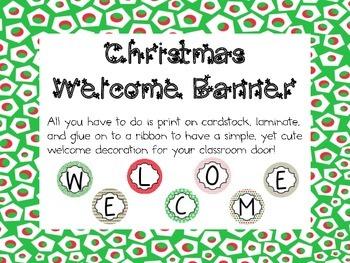 Christmas Welcome Banner