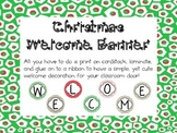 Christmas Welcome Banner