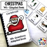 Wh Questions for Speech Therapy Christmas Adapted Book