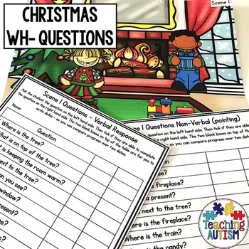 Christmas Wh- Questions and Scenes