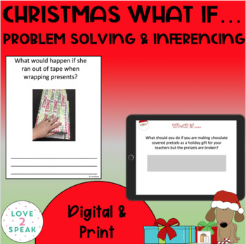 """Christmas """"What If"""" - Inferencing -  Real Pictures & Written Responses"""