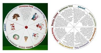 Christmas Wheel (Christmas facts, reading, pair work, fun activity)