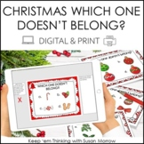 Christmas Critical Thinking | Which One Doesn't Belong? DI