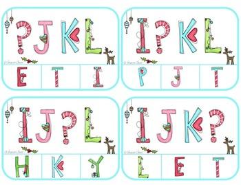 Christmas Whimsy:  What's Missing?  Alphabet Order