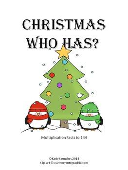 Christmas Who Has Multiplication