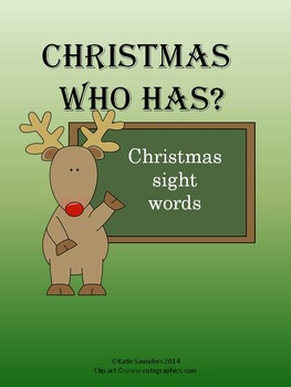 Christmas Who Has Sight Words