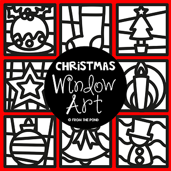 Christmas Window Art
