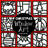 Christmas Window Art #alliwantforchristmas