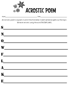 Christmas & Winter Acrostic Pack