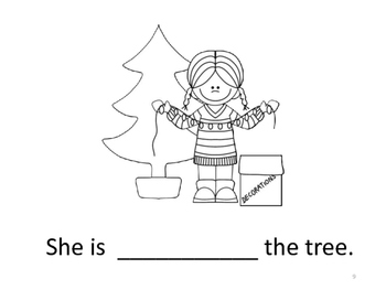 Christmas & Winter Action Verb Picture Book & Matching Game #DEC16SLPMustHave