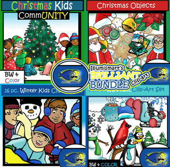 Christmas/Winter BUNDLE- Objects & Kids COMBO 112 Pieces (