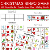 Christmas Bingo Game - 35 Cards, Create-Your-Own