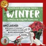 Christmas & Winter Bitmoji Classroom Templates