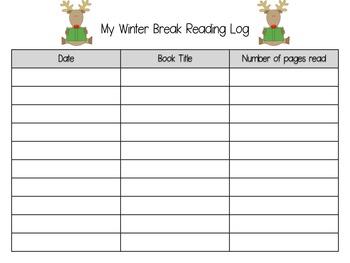 Christmas / Winter Break Homework Pack for Kindergarten or 1st Grade (Free)