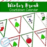Christmas/ Winter Break Countdown Calendar and Writing Activity