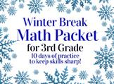 Winter Break Packet / Christmas Holiday Packet - 3rd Grade Math