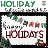 Christmas & Winter Buffalo Check Bulletin Board Kit