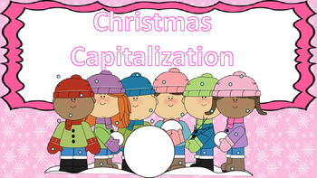 Christmas / Winter Capitalization Task Cards