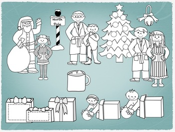 Christmas - Winter Clipart for Train Themes for commercial use