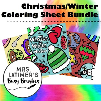 Christmas/Winter Coloring Pages