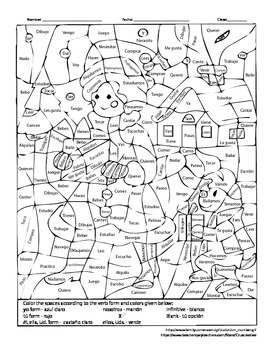 Christmas Winter Coloring - Present Tense