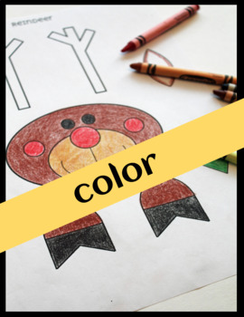 Winter Craft - Coloring Writing Toppers