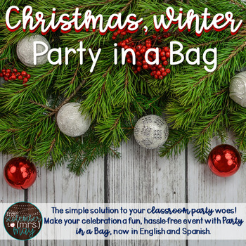 Christmas, Winter, December Party in a Bag