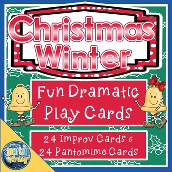 Christmas Winter Drama Prompt Task Cards