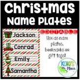 Christmas/Winter Editable Name Plates/Bookmarks/Gift Tags