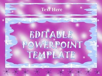 Winter - Editable Powerpoint templates