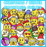 Christmas / Winter Emoji Clip Art: Smiley Faces Emoticons Clipart