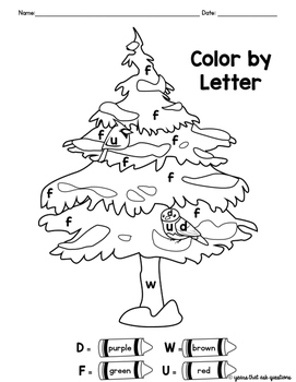 Winter Friends Color By Letter Coloring Pages